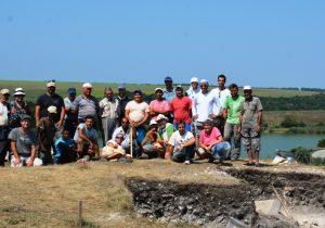 Стенни мозайки с позлата откриха при разкопките на античния град Залдапа